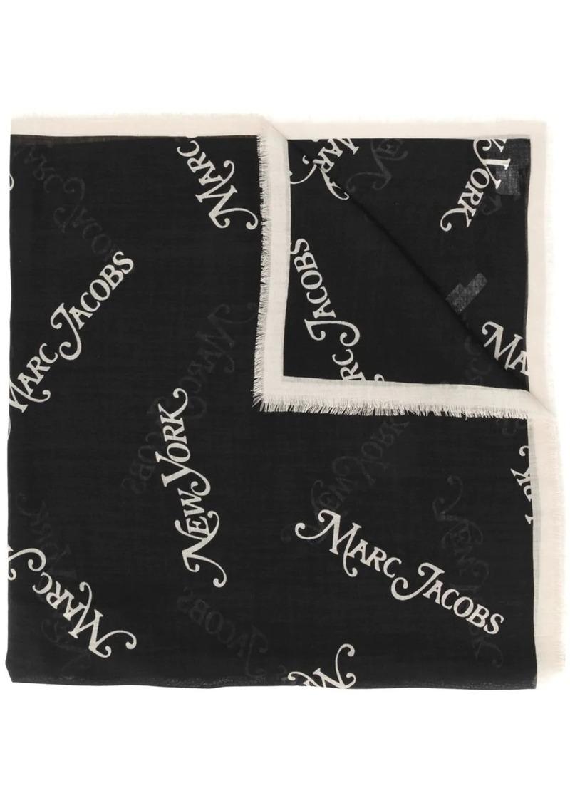 Marc Jacobs logo print scarf