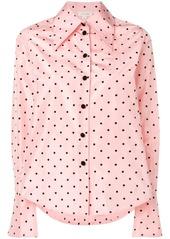 Marc Jacobs long-sleeve polka dot blouse
