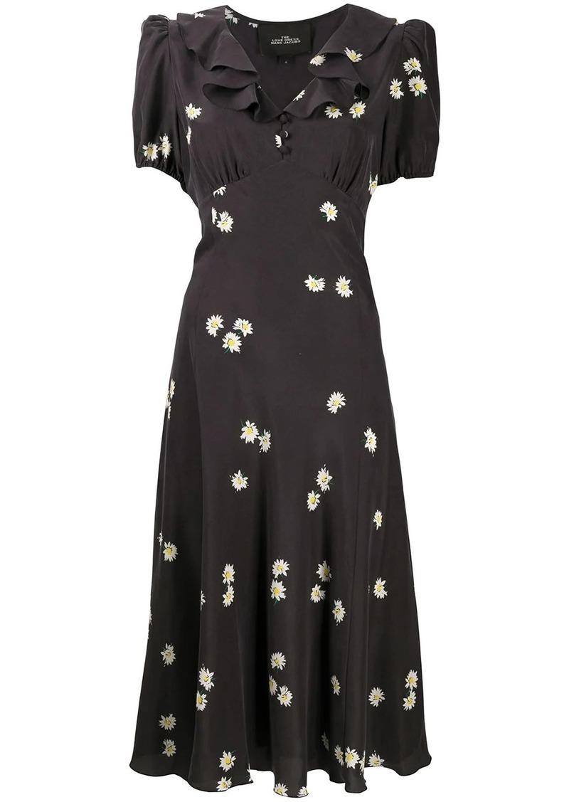 Marc Jacobs Love daisy-print silk dress