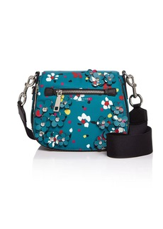 MARC JACOBS 3D Painted Flowers Nomad Small Saddle Bag