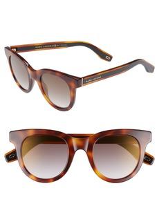 MARC JACOBS 47mm Round Lens Cat Eye Sunglasses
