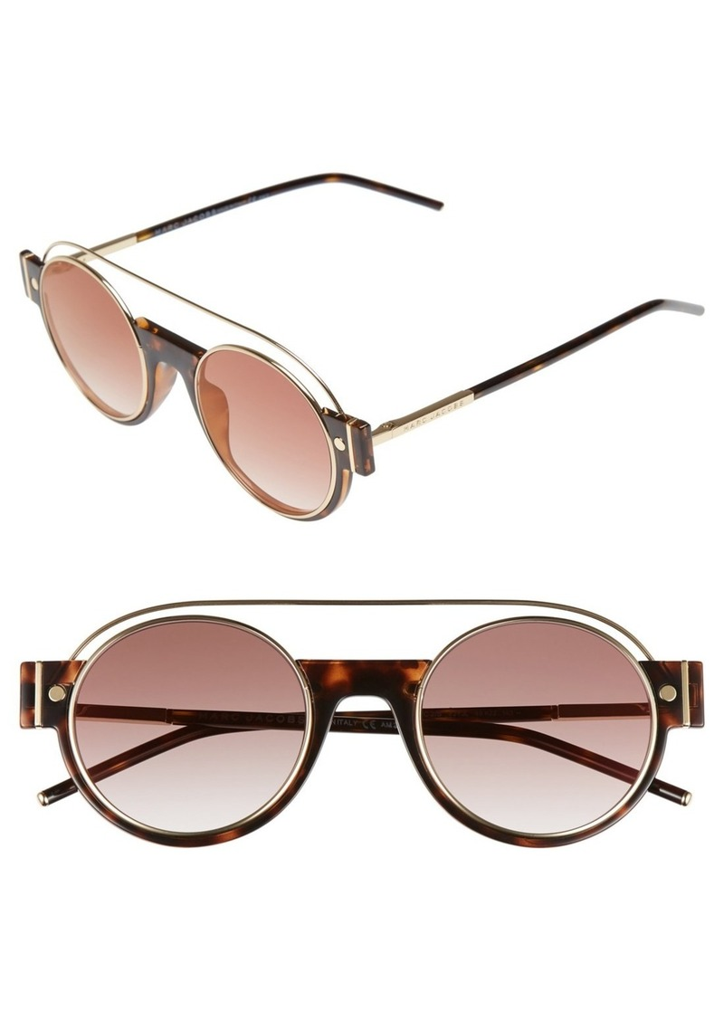 MARC JACOBS 49mm Round Sunglasses