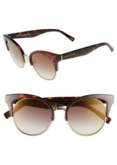 MARC JACOBS 51mm Gradient Lens Cat Eye Sunglasses