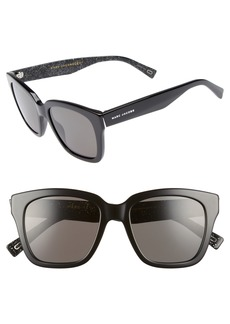 MARC JACOBS 52mm Square Polarized Sunglasses