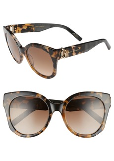 MARC JACOBS 53mm Gradient Lens Cat Eye Sunglasses