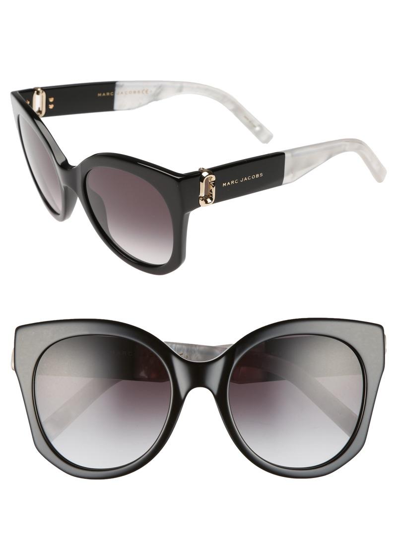 MARC JACOBS 53mm Gradient Lens Cat Eye Sunglasses