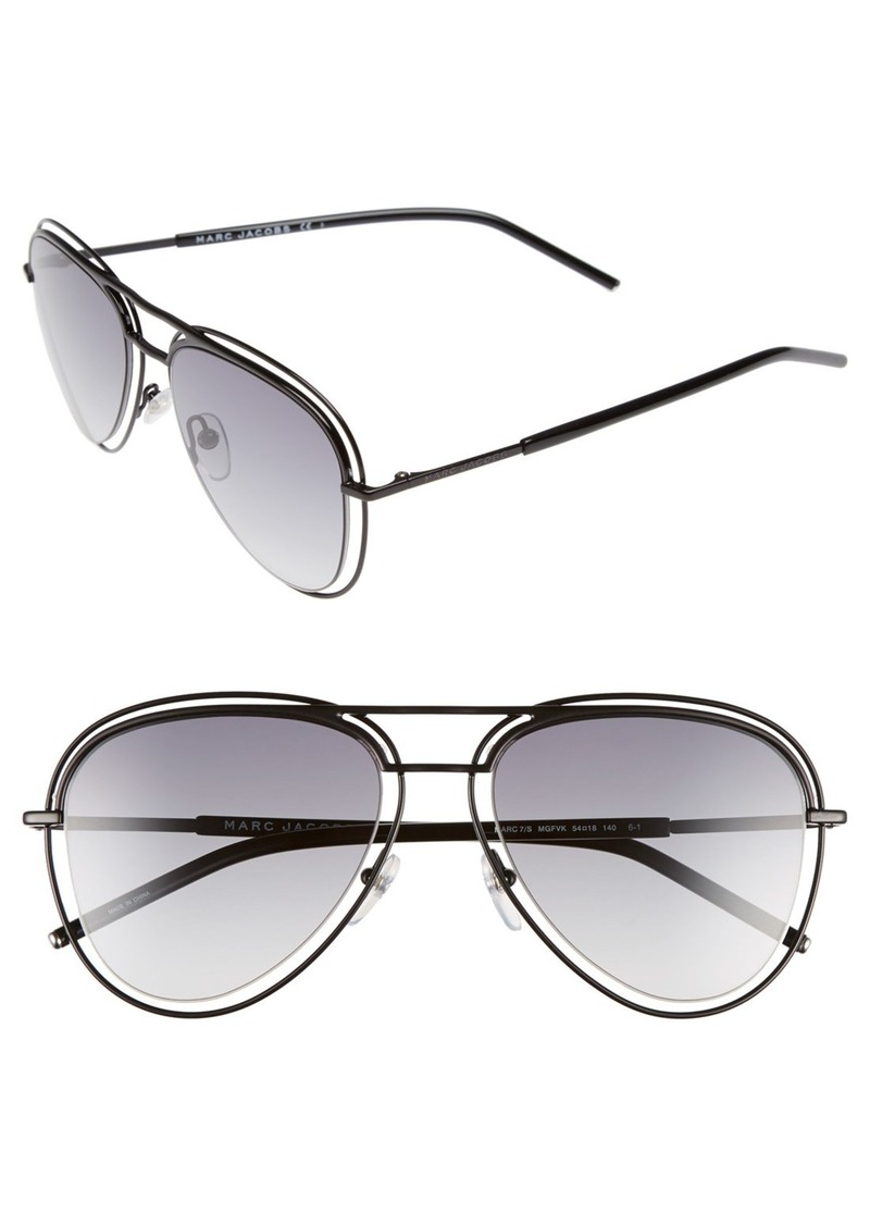 MARC JACOBS 54mm Aviator Sunglasses