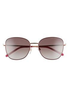Marc Jacobs 54mm Gradient Lens Square Sunglasses
