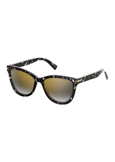 Marc Jacobs 54mm Gradient Mirrored Sunglasses