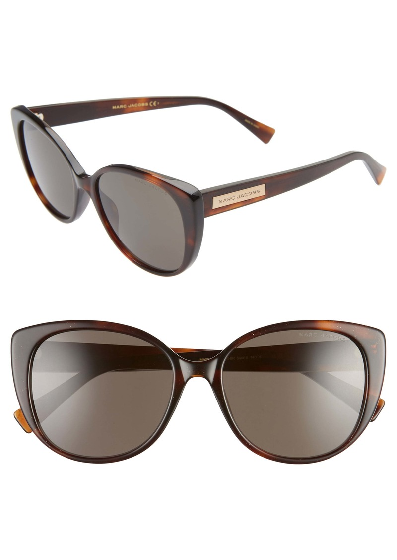 MARC JACOBS 54mm Rounded Cat Eye Sunglasses