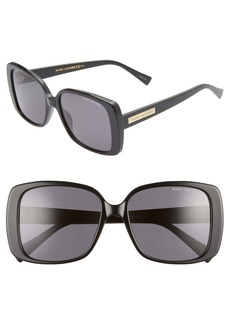MARC JACOBS 55mm Rectangular Sunglasses