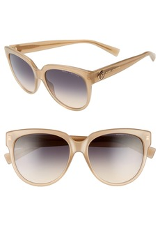 MARC JACOBS 56mm Rounded Cat Eye Sunglasses