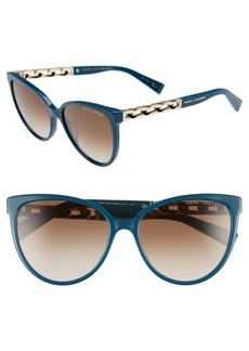 MARC JACOBS 57mm Gradient Cat Eye Sunglasses
