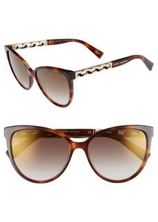 MARC JACOBS 57mm Gradient Cat Eye Sunglasses