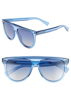 MARC JACOBS 57mm Gradient Flat Top Sunglasses