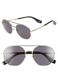 MARC JACOBS 57mm Round Aviator Sunglasses