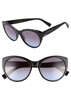MARC JACOBS 57mm Round Sunglasses