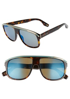 The Marc Jacobs 58mm Mirrored Aviator Sunglasses