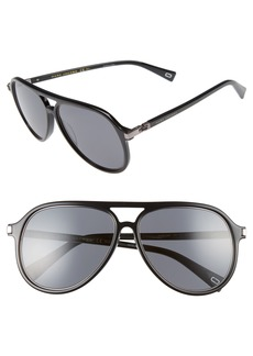 MARC JACOBS 58mm Navigator Sunglasses