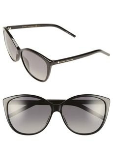 MARC JACOBS 58mm Polarized Butterfly Sunglasses