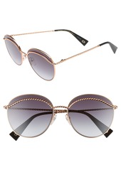MARC JACOBS 58mm Round Sunglasses