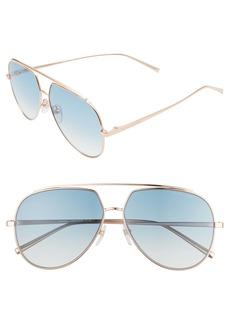 The Marc Jacobs 59mm Gradient Aviator Sunglasses