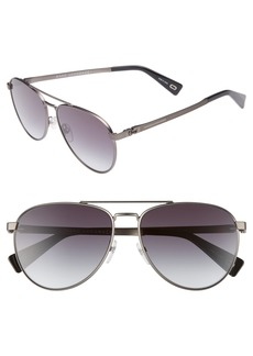 MARC JACOBS 59mm Mirrored Aviator Sunglasses