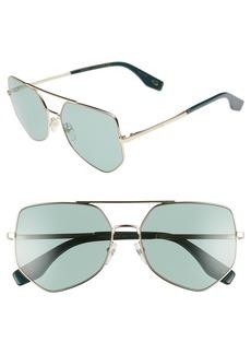 MARC JACOBS 59mm Navigator Sunglasses