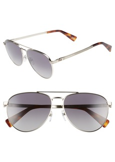 MARC JACOBS 59mm Polarized Aviator Sunglasses