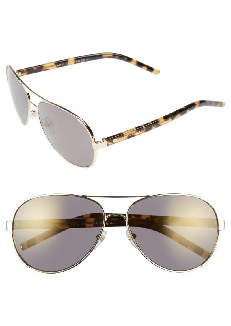 MARC JACOBS 60mm Oversize Aviator Sunglasses
