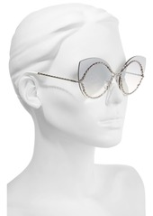 MARC JACOBS 61mm Rimless Cat Eye Sunglasses