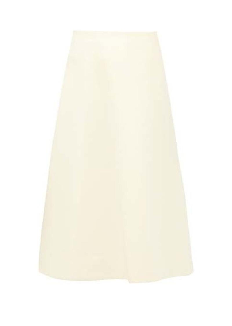 Marc Jacobs A-line wool-blend skirt