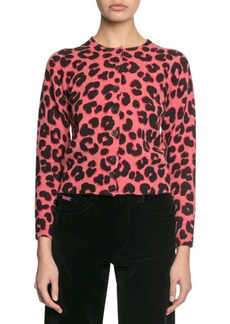 Marc Jacobs Animal-Print Button-Front Cardigan