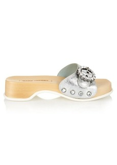 Marc Jacobs Anita embellished leather clogs