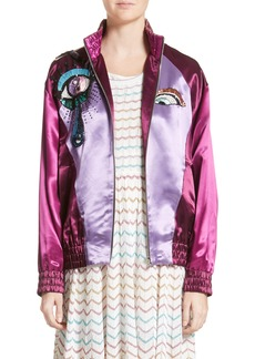 MARC JACOBS Appliqué Satin Bomber