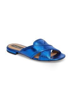 MARC JACOBS Aurora Metallic Slide Sandal (Women)