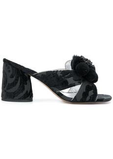 Marc Jacobs Aurora Pompom mules - Black