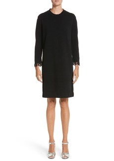 MARC JACOBS Beaded Fringe Wool & Cashmere Dress
