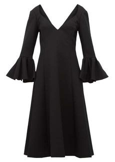 Marc Jacobs Bell-cuff wool-crepe midi dress