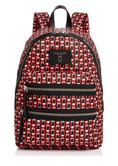MARC JACOBS Biker Logo Scream Print Backpack