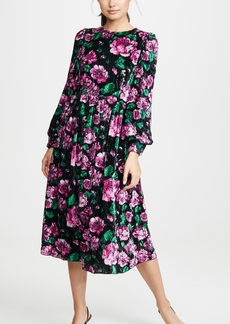 Marc Jacobs Blouson Sleeve Flare Dress
