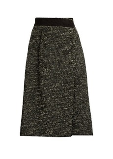 Marc Jacobs Bouclé tweed wool-blend skirt