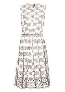 Marc Jacobs Broderie-anglaise pleated dress