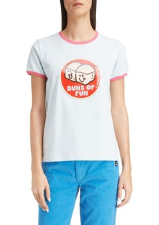 THE MARC JACOBS Buns of Fun Ringer Tee