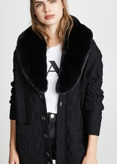 Marc jacobs marc jacobs cardigan with faux fur trim abv1a19eafb a