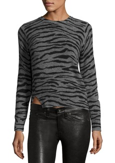 Marc Jacobs Cashmere Tiger-Print Crewneck Sweater