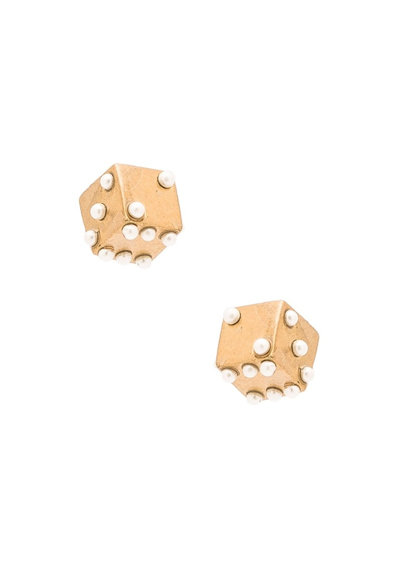 Marc Jacobs Charms Dice Stud Earrings