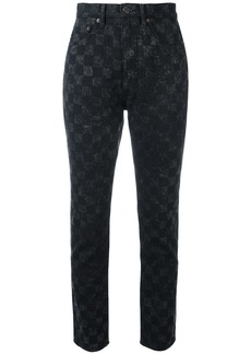 Marc Jacobs checker print Flood Stovepipe jeans - Black