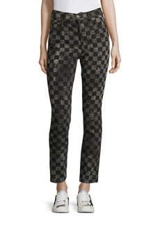 Marc Jacobs Checker Printed Denim Pants