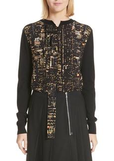 MARC JACOBS City Lights Print Silk & Wool Sweater